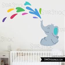 stickers elephant chambre bébé sticker enfant éléphant bluea