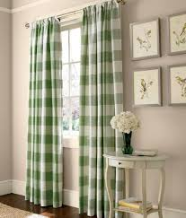 Oversized Curtain Rod Love Checks This Bold Oversized Buffalo Check Pattern Done In