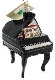 tannenbaum treasures black piano glass ornament traditional