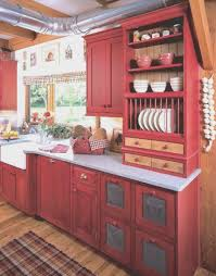 kitchen simple red cabinet kitchen style home design gallery