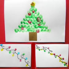 how to make your own fingerprint christmas cards with the kids