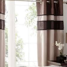 Manhattan Curtains Manhattan Mocha Lined Eyelet Curtains Dunelm