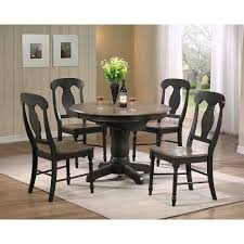 iconic furniture 5 piece oval dining table set gray stone