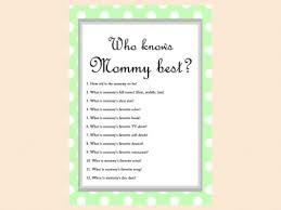 who knows best baby shower mint free baby shower who knows best baby shower