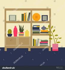 Decorative Vases For Living Room by Vector Illustration Interior Living Room Bookcase Stock Vector