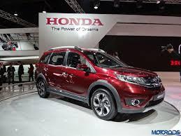 crossover honda auto expo 2016 seven seater honda br v compact crossover comes