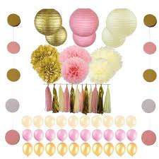 pink and gold party supplies 56 pc pink and gold party supplies for your unicorn princess 1st