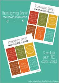 thanksgiving dinner conversation cards thanksgiving