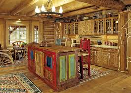 wonderful colorful nuance of traditional kitchen which is