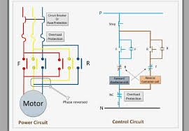 control circuit for forward and reverse motor with contactor