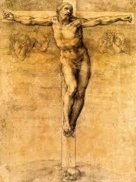 michelangelo 1475 1564 crucifixion of christ black chalk