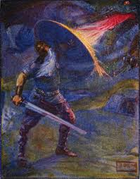 file stories of beowulf fighting the dragon jpg wikimedia commons