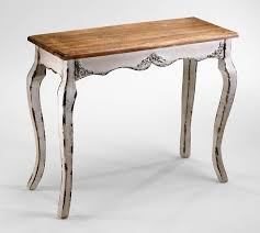distressed white console table antique white wash wood console table