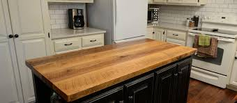 kitchen island with wood top best wood kitchen countertops gallery liltigertoo