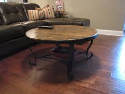 Leather And Wood Coffee Table Furniture Vintage Wooden Coffee Table Plus Wrought Iron