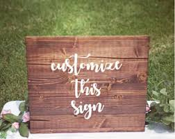 personalized wooden wedding signs wooden wedding signs etsy