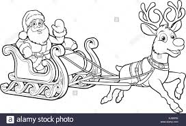 reindeer sled black and white stock photos u0026 images alamy