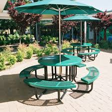 round plastic picnic table commercial picnic tables for schools parks outdoor picnic tables