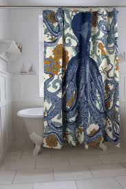 Coastal Shower Curtain by Coastal Bathroom With Clawfoot Tub And Octopus Shower Curtain