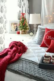 master bedroom decorated for christmas frugal homemaker