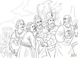 elisha refusing gifts from naaman coloring page free printable
