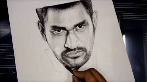 ms dhoni how to draw ms dhoni face sketch charcoal pencil