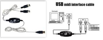 usb midi keyboard cable adapter china mainland audio cables