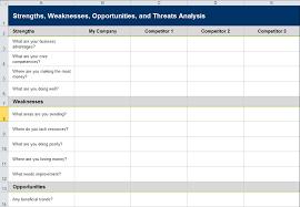swot analysis template excel download calendar template word