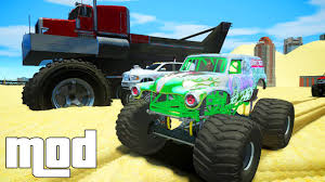 video de monster truck grand theft auto iv phantom 2 biggest monster truck mod for