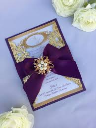 purple and gold wedding invitations gold wedding invitation gold box invitation gold metallic