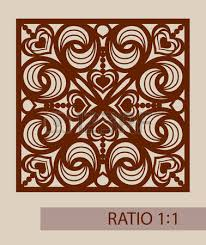 set stencil lacy hearts with carved openwork pattern template