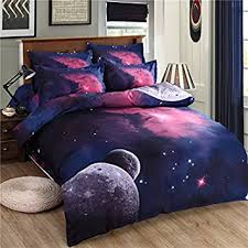 themed bed sheets esydream home galaxy bedding sets universe