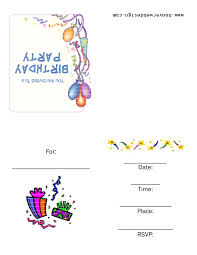 template free birthday party invitation templates mac with quote
