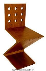 chaise zig zag chaise zig zag inspiration de stijl par gerrit rietveld