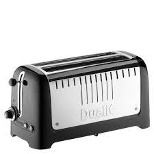 Dualit Toaster Uk Dualit 46025 Lite 4 Slice Long Slot Toaster Metallic Black Iwoot