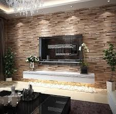 rustic modern 3d room faux brick wall wallpaper bedroom vinyl