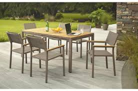 furniture outdoor folding table with hexagonal teak wood table
