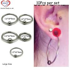 piercing lip rings images Showlove 10pcs large size surgical steel captive bead lip rings jpg