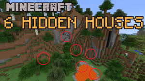 Minecraft Home Decorations 6 Hidden Houses In Minecraft Youtube Clipgoo