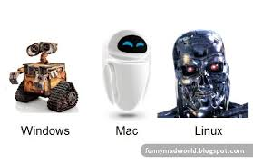 Windows Vs Mac Meme - windows vs mac vs linux poster funnymadworld