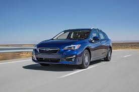 2017 subaru impreza sedan blue subaru impreza 2018 motor trend car of the year contender motor