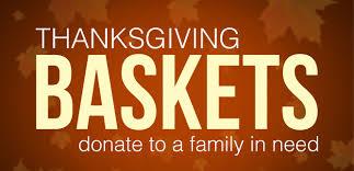 thanksgiving basket food drive blacksburg high school