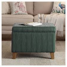 Homepop Storage Ottoman Medium Storage Ottoman Aegean Blue Homepop Target Ottomans