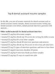 quick resume tips resume examples for dental assistants resume examples and free resume examples for dental assistants 12 useful materials for pediatric dental assistant top8dentalassistantresumesamples 150424221419 conversion gate01