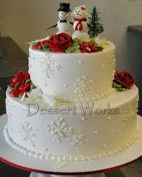 Wedding Cake Designs For Christmas Winter Wedding Cakes