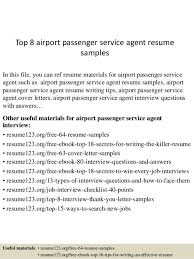 Resume Format For Aviation Ground Staff Passenger Service Agent Cover Letter