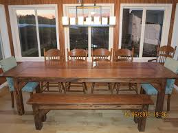 Farm Table With Bench And Chairs Simple Man Farmhouse Table Floyd Rustic