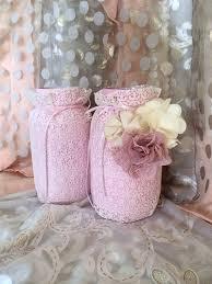 lace mason lace jars bridal shower centerpieces baby shower