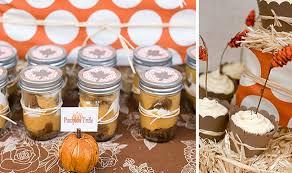 fall bridal shower ideas creative fall wedding party favor idea using jars and