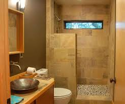 Bathroom With Open Shower Tiny Area Using Small Bathroom Remodel Ideas With Maple Vanity And